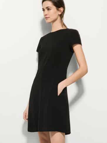 vestido negro corto casual