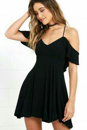 vestido negro noche verano