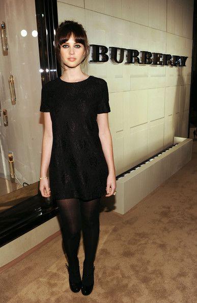 vestido recto negro mangas corta noche