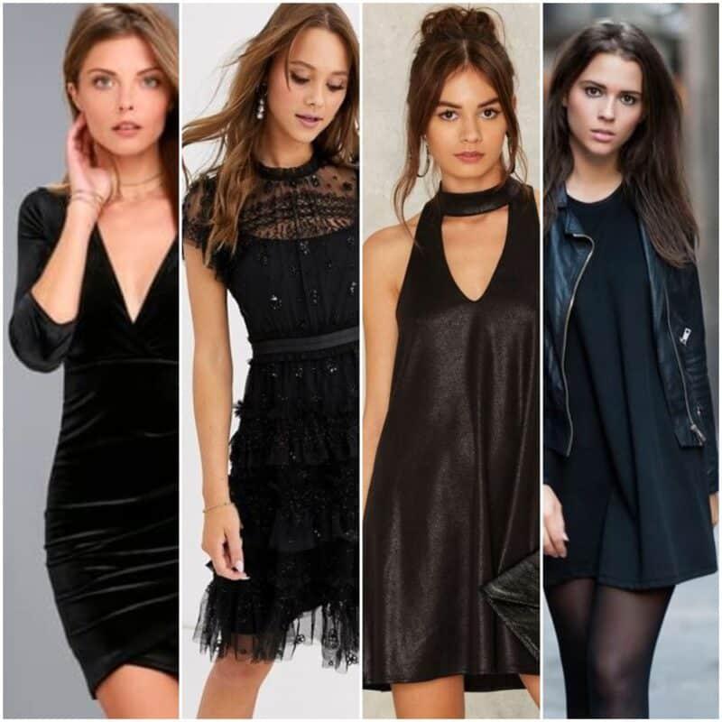 vestidos cortos negros para salir de noche