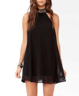 vestidos negros noche verano
