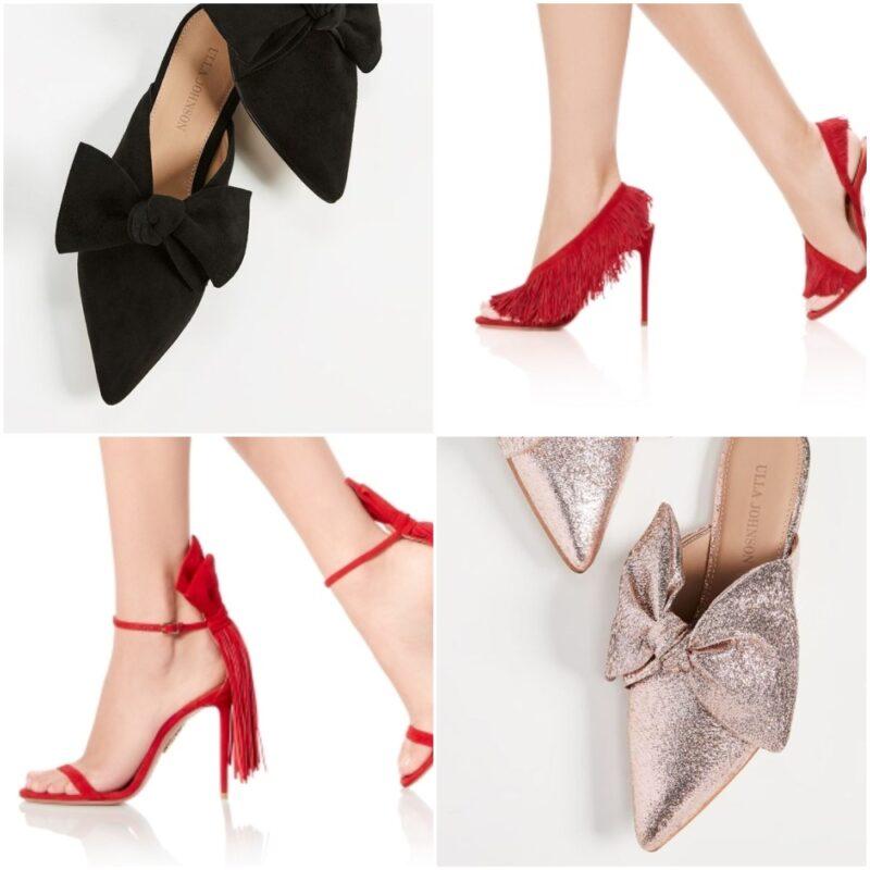 zapatos y sandalias con moños o flecos 2021