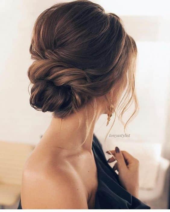 Peinado reogido elegante