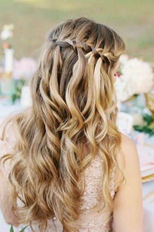 peinado juvenil pelo largo para noche