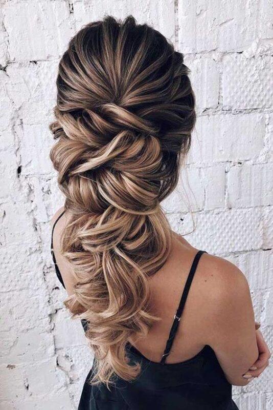 peinado noche pelo largo trenza