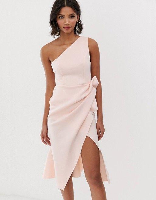 Vestido corto rosa pastel