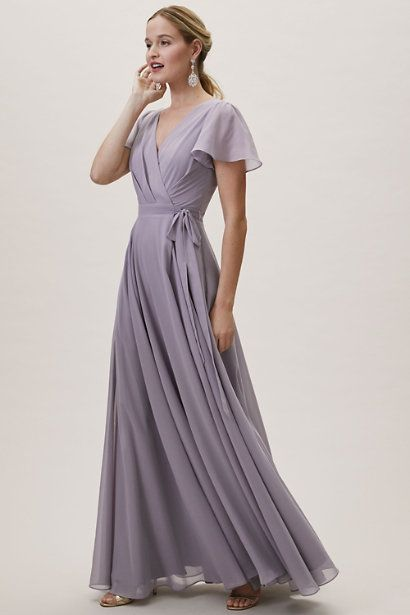 Vestido de fiesta lila largo