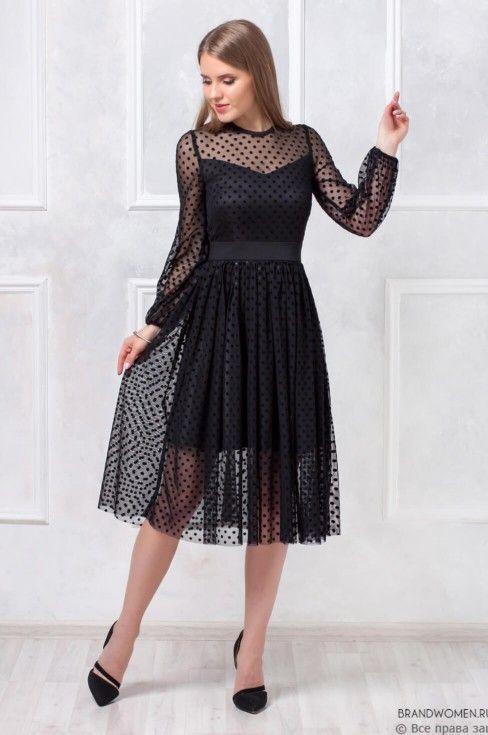 Vestido midi para noche de invierno negro