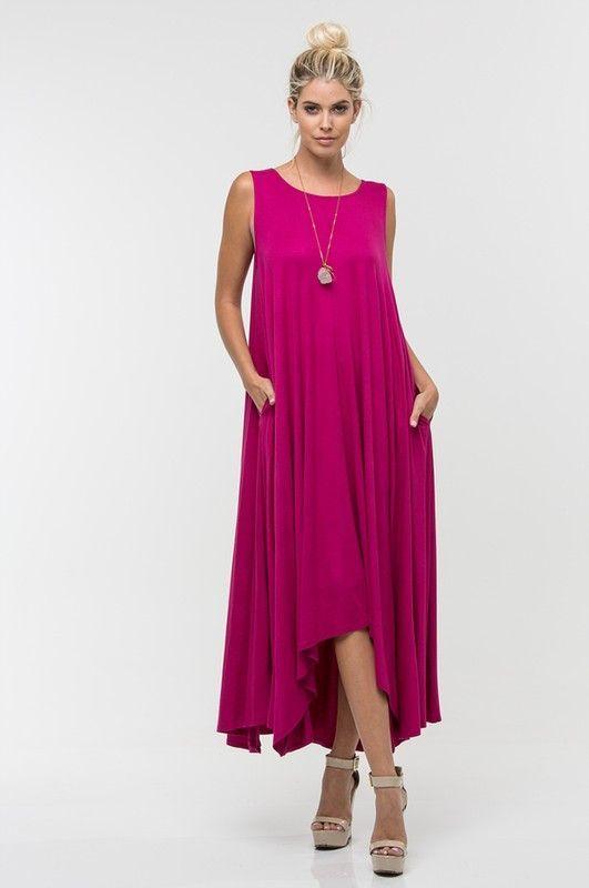 maxi vestido purpura para la noche