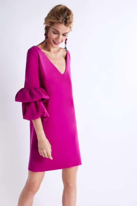 vestido purpura para la noche