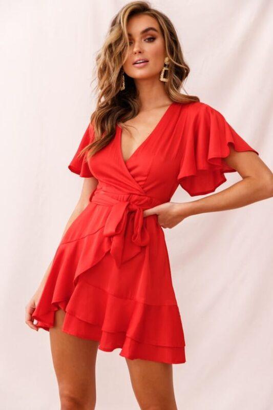 vestido rojo para salir de noche