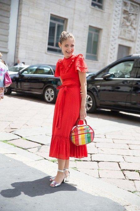 vestidos de moda rojo para la noche