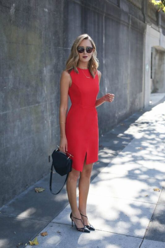 Vestido Rojo formal sin mangas