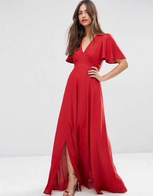 Vestido Rojo largo simple