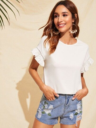 Outfits para navidad informal con short de jeans