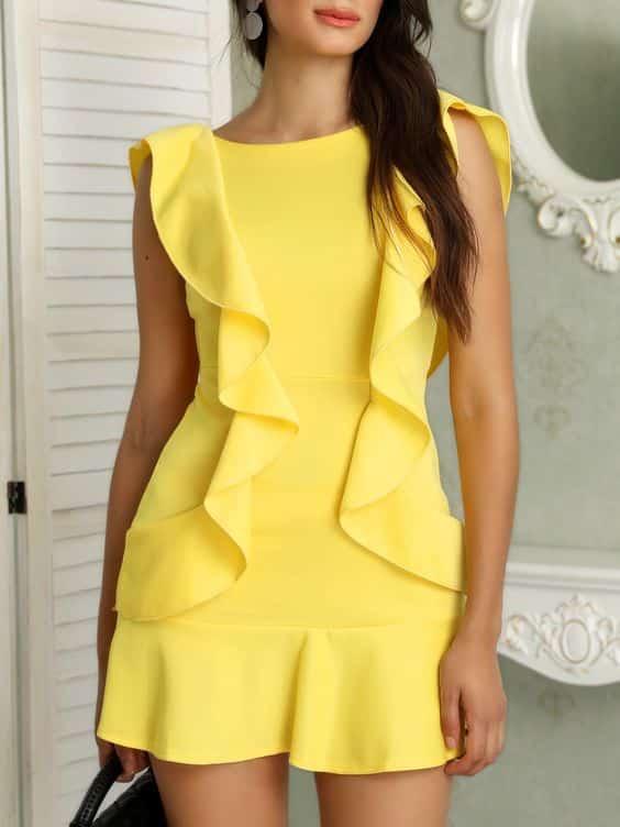 mini vestido amarillo juveil