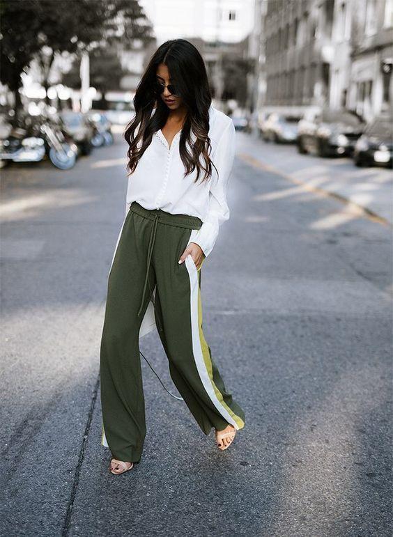 pantalon algodon y sandalias