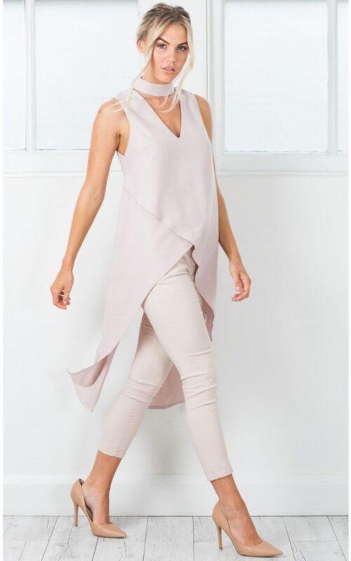 pantalon chupin de vestir y blusa larga