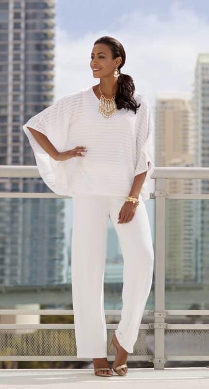 pantalon y blusa blanca para ano nuevo