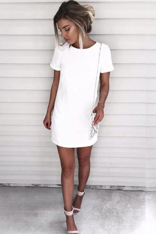 remeron vestido blanco fiesta ano nuevo