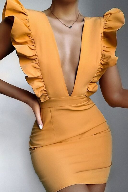 vestido amarillo maiz zorto juvenil