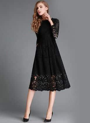 vestido negro para fiesta elegante