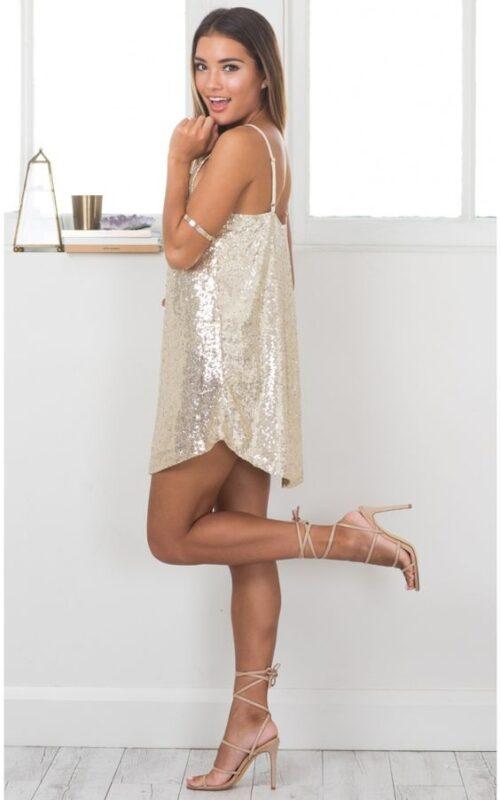 vestido recto de lentejuelas ano nuevo fiesta
