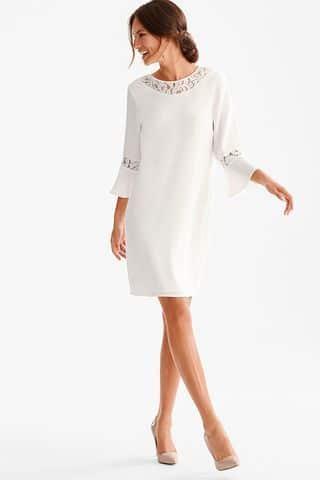 vestido tunica corto blanco ano nuevo