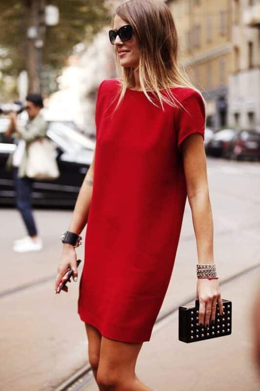 vestido tunica remeron rojo Outfits para navidad
