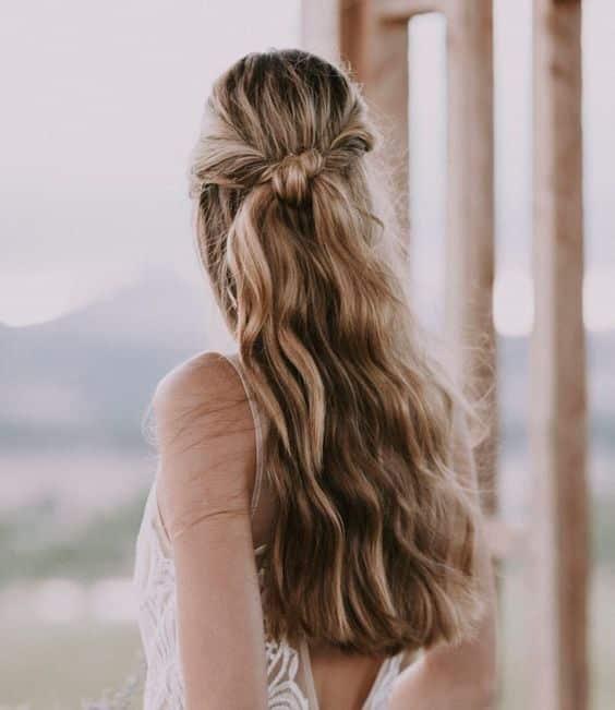 peinado simple para fiesta Peinado noche semirecogido