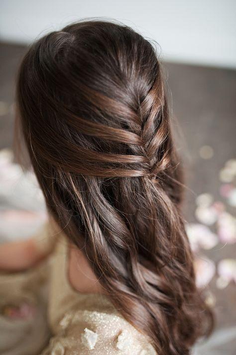 trenza espiga Peinado noche semirecogido