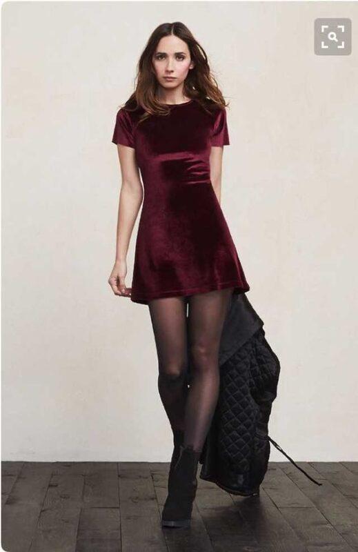 vestido de terciopelo para ir a bailar invierno