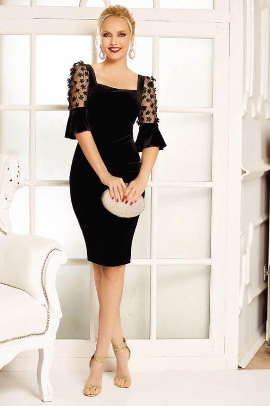 vestido de terciopelo para una noche elegante