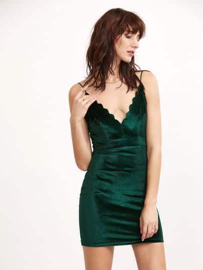 vestido de terciopelo tirantes finos