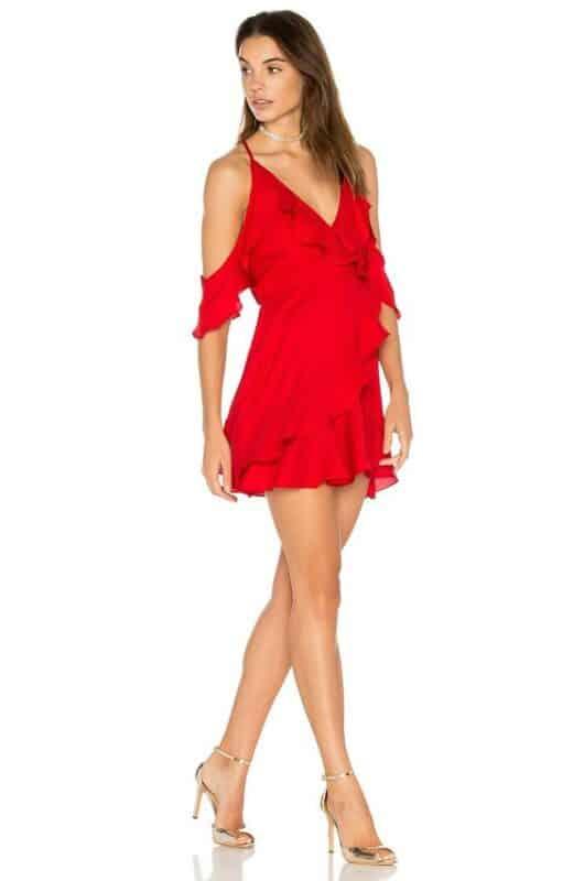 mini vestido rojo