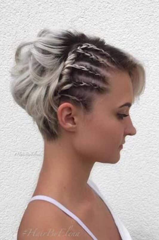peinado para corte duende con trenzas Cornrow