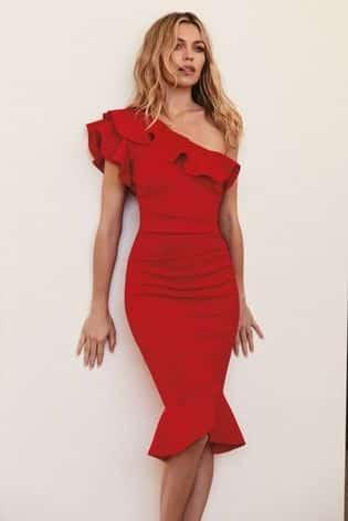 vestido rojo para un anoche de cumpleanos