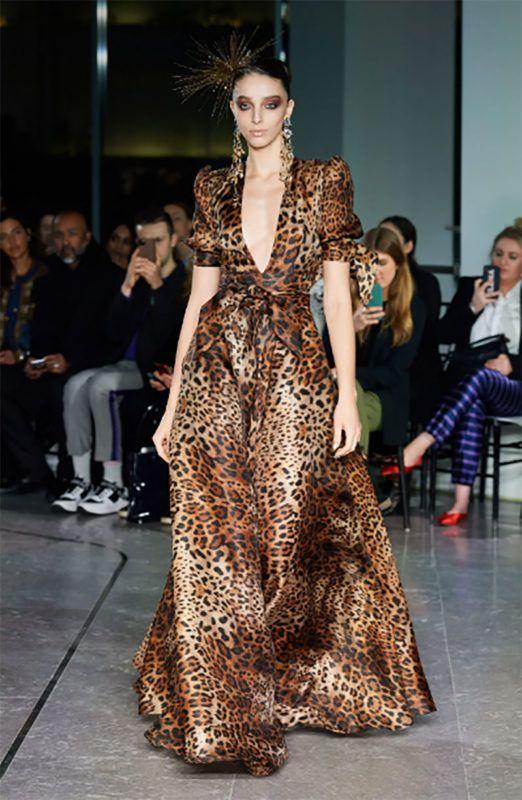 Vestido noche de fiesta leopardo