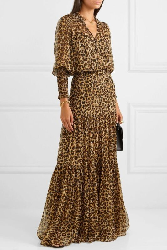Vestido noche sencillo leopardo