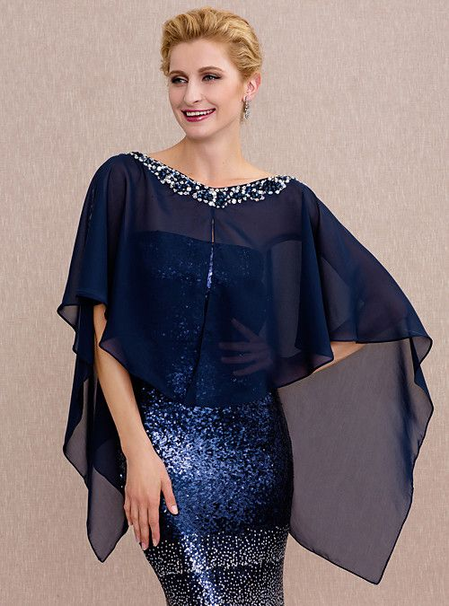capa asimetrica corta para vestido de fiesta