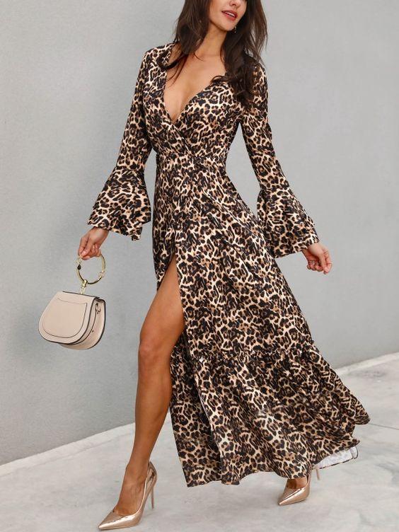 carteras y zapatos para vestido leopardo
