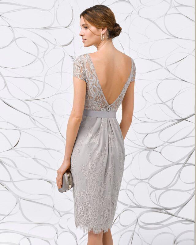 vestido palta formal con espalda en v