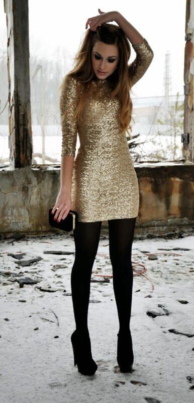 vestido de noche para la noche invierno