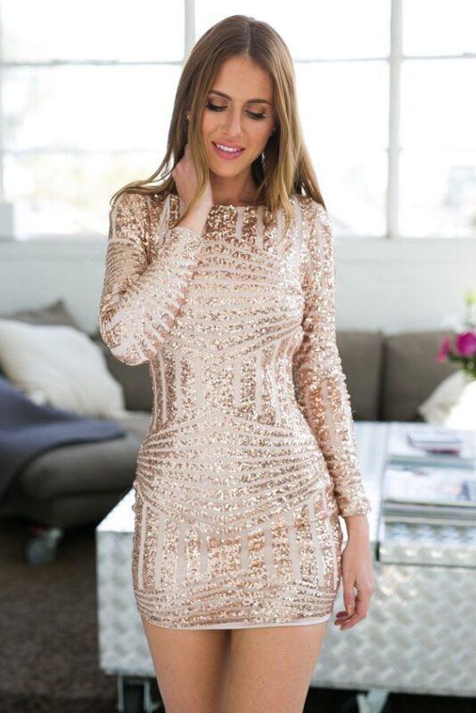 vestido microtul elastizado bordado dorado