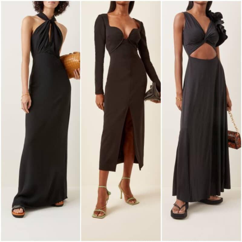 Vestido de noche de fiesta negro 2022
