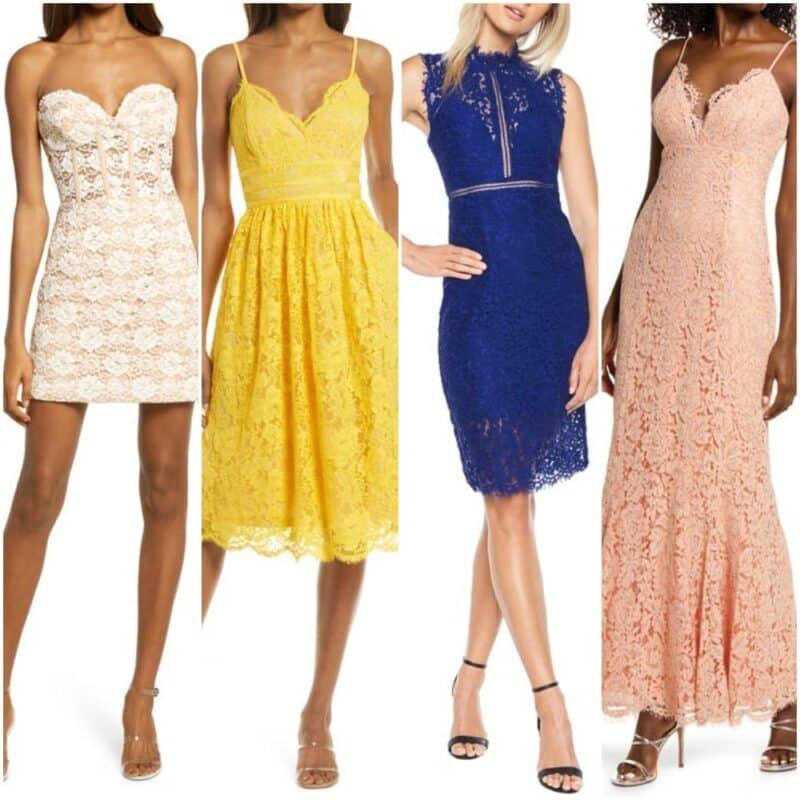 Ideas de vestidos de encaje para una noche de fiesta